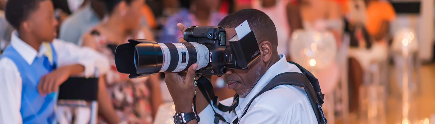 Winston shooting at a wedding